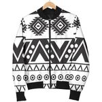 Dark Grey Aztec Pattern  3D Printed Unisex Jacket