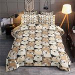 Multi Face Cute Corgi Bedding Set Bedroom Decor