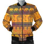 Elephant Aztec Pattern 3D Printed Unisex Jacket