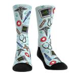 Medical All-Over Icons Lovely Birthday Gift For Men Women Comfortable Unique Socks