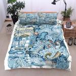 Ocean Creatures Printed Bedding Set Bedroom Decor