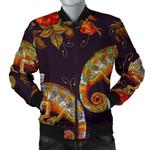 Pattern Flower Chameleon 3D Printed Unisex Jacket