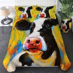 Watercolor Cow Printed Bedding Set Bedroom Decor