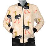 Ostrich Cute Pink Dot Pattern 3D Printed Unisex Jacket