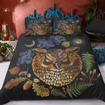 Owl Angry Staring You Printed Bedding Set Bedroom Decor