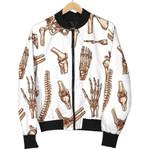 Anatomy Bone Pattern Vintage 3D Printed Unisex Jacket