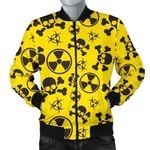 Black And Yellow Radiation Pattern 3D Printed Unisex Jacket