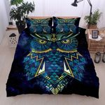 Yellow And Blue Owl  Printed Bedding Set Bedroom Decor