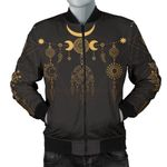 Sun Moon Boho Style Gold 3D Printed Unisex Jacket