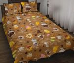 Set Coffee Reduce Stress Printed Bedding Set Bedroom Decor