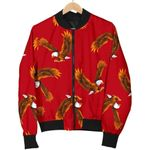 Eagle Red Pattern 3D Printed Unisex Jacket