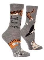 People I Love Cats Crew Socks Birthday Gift Ideas For Men Women Funny Comfortable Cute Unique Socks