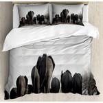 Black Elephants  Printed Bedding Set Bedroom Decor