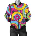 Psychedelic Colorful Pattern Oval 3D Printed Unisex Jacket