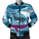 Whale Design Pattern 3D Printed Unisex Jacket
