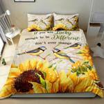 Bird Sunflower Printed Bedding Set Bedroom Decor
