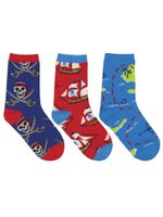 "Kid's ""A Pirate's Life"" 3-Pack Socks Lovely Birthday Gift Comfortable Cute Unique Socks"