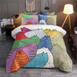Cats Colorful Kingdom Printed Bedding Set Bedroom Decor