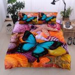 Butterfly Starfish And Seashell Printed Bedding Set Bedroom Decor