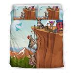 Chihuahua Climbing Mountain Printed Bedding Set Bedroom Decor