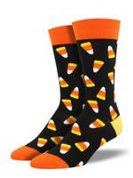 "Men's ""Candy Corn"" Socks Comfortable Funny Cute Unique Socks"