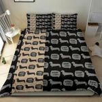 Multi Dachshund Printed Bedding Set Bedroom Decor