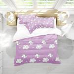 Violet Unicorn Printed Bedding Set Bedroom Decor