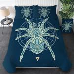 Geometry Spider Light Printed Bedding Set Bedroom Decor