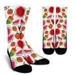 Summer Fruits Watermelon Pattern Print Unisex Crew Socks