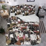French Bulldogs Family Crowed Printed Bedding Set Bedroom Decor