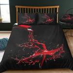 Red Wine Was Spilled Printed Bedding Set Bedroom Decor