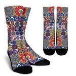 Mandala Tile Bohemian Pattern Print Unisex Crew Socks
