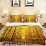 Yellow Woods Autumn Is Coming Bedding Set Bedroom Decor