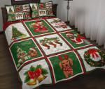 Christmas Dachshund  Printed Bedding Set Bedroom Decor