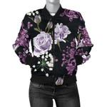 Lilac Flower Pattern 3D Printed Unisex Jacket