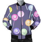 Lollipop Pattern Purple 3D Printed Unisex Jacket
