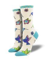 "Women's Laurel Burch ""Hummingbird Blossom"" Socks Comfortable Funny Cute Unique Socks"