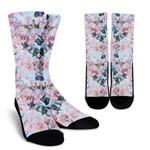 Blossom Floral Flower Pattern Print Unisex Crew Socks