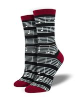 "Women's Bamboo ""Sheet Music"" Socks Comfortable Funny Cute Unique Socks"