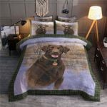 Lonely Chocolate Lab Printed Bedding Set Bedroom Decor