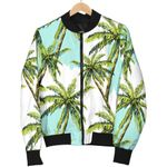 Palm Tree Tropical Pattern 3D Printed Unisex Jacket