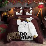 Chef Bistro Parisien Printed Bedding Set Bedroom Decor