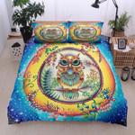 Owl Flora Starry Night Printed Bedding Set Bedroom Decor