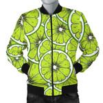 Slices Of Lime Design Pattern 3D Printed Unisex Jacket