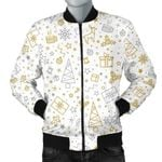 Christmas Tree Christmas Element Silver Gold Pattern 3D Printed Unisex Jacket