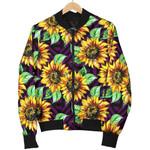 Purple Trippy Sunflower Pattern   3D Printed Unisex Jacket