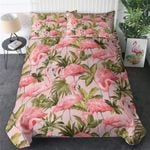 Flamingo Tropical Leaf Printed Bedding Set Bedroom Decor