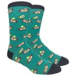 Dogs and Mustard - Green Comfortable Cute Funny Unique Socks