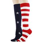 Stars And Stripes Lovely Birthday Gift For Men Women Comfortable Unique Socks