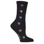 Colorful Paw Prints Lovely Birthday Gift For Men Women Comfortable Unique Socks